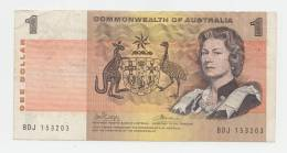 Australia 1 Dollar 1969 VF CRISP Banknote P 37c  37 C - Emissioni Governative Decimali 1966-...