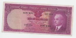 Turkey 1 Lira L. 1930 (1942) VF++ P 135 - Turchia