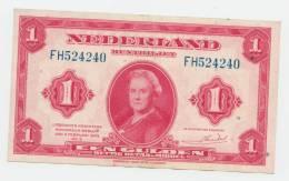 Netherlands 1 Gulden 1943 AXF P 64 - [2] 1815-… : Kingdom Of The Netherlands