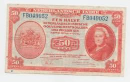 Netherlands-Indies 50 Cents 1943 VF P 110a 110 A - Nederlands-Indië