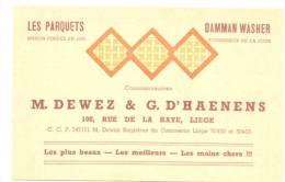 Carte De Visite - Parquets LIEGE M. Dewez & G. D'Haenens - Cartes De Visite