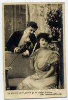 1907--Couple  Homme-Femme--courtisan-am Our--rose  N°311 éd ABC----belle Carte Animée - Couples