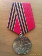 Medalla 1945-1995. 50 Aniversario 2ª Guerra Mundial. URSS. Comunista. - Rusia