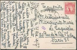 10 öre (non Obliétéré) S/C.V. De STOCKHOLM Du 14-12-1917 Vers Paris + Censure OUVERT PAR L´AUTORITE MILITAIRE/12 - 8622 - Suède