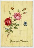 Bonne Fête Maman---Rose,oeillet Et Papillons  ,cpsm 10 X 15  N° 9239 éd Spécial - Fête Des Mères