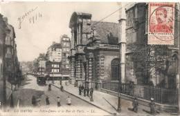 - Carte Postale Du Havre à Destination Bordeaux Timrbre Belge, Sans Surtaxe Cachet Havre Spécial TB(4 Points Ppapier Dos - Covers & Documents