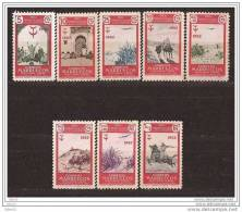 MA361-L3908TTA.Marruecos. Maroc.Marocco.MARRUECOS  ESPAÑOL PROTUBERCULOSOS. 1952  (Ed 361/8**) Sin Charnela.MAGNIFICA - Aviones
