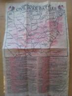 Documento Histórico. Mapa Cronológico De Batallas. Guerra De Secesión Americana. 1861-1865. - Documentos