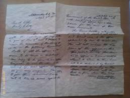 Documento Histórico. Carta Ulyses S. Grant A Robert E. Lee. Rendición En Appomattox. 1865. Guerra De Secesión Americana. - Documentos