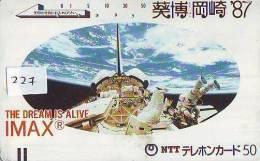 Télécarte Japon ESPACE (227) PC JAPAN * SPACE SHUTTLE * Rakete * Fusée * USA * NASA * LAUNCHING * FRONTBAR 110-011 - Espacio