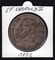 BELGIQUE. Ecu 5 F LEOPOLD II. 1872 - Unclassified