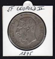 BELGIQUE. Ecu 5 F LEOPOLD II. 1875 - Unclassified