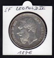 BELGIQUE. Ecu 5 F LEOPOLD II. 1876 - Unclassified