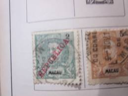 COLLECTION TIMBRES  PORTUGAL  MACAO DEBUT 1898 + KIAO-TCHEOU OBLITERES OU NEUFS AVEC  CHARNIERES - Macao