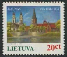 Lithunia Litauen Lietuva 1995 Mi 576 ** Kaunas (city) At The Via Baltica Motorway Project - E67 / Autobahn / Autoroute - Transportmiddelen
