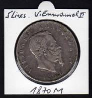 ITALIE. Ecu 5 Lires VITTORIO EMMANUEL II. 1870 M - 1861-1946 : Kingdom