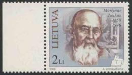 Lithunia Litauen Lietuva 2008 Mi 960 ** Martynas Jankus (1858-1946) Social Activist, Publisher In East Prussia/Publizist - Schrijvers