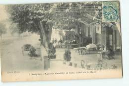 SORGUES -  Avenue Gentilly - Café Hôtel De La Gare Animé - Edition Brun Buraliste  -   2 Scans - Sorgues