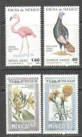 1163 Flora Fauna Birds Animals 1980 Mexico 4v Set MNH ** 4,5ME - Pájaros