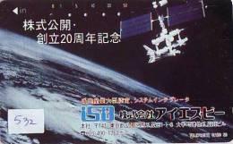 Télécarte Japon SATELLITE (532) ESPACE * TERRESTRE * MAPPEMONDE * TELEFONKARTE * Phonecard JAPAN * 110-92810 - Ruimtevaart