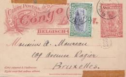 Belgisch Congo-Congo Belge- Postkaart/Carte Postale . 1912. Entier Postal. 5c.+ 5c. - Entiers Postaux