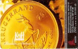 TARJETA DE HUNGRIA DE UNA MONEDA DE UNA GACELA (COIN,MONEDA) - Sellos & Monedas