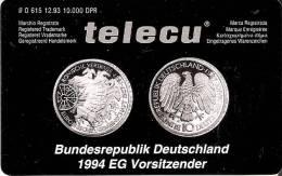 TARJETA DE ALEMANIA DE UNA MONEDA Y BANDERAS-FLAG (COIN,MONEDA) NUEVA-MINT (ESPAÑA-PORTUGAL-ITALIA, ETC) - Sellos & Monedas