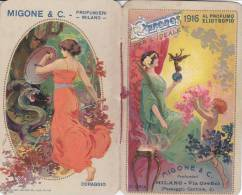 "CALENDARIETTO  ""CHRONOS""  1916 PROFUMATO ""AL PROFUMO ELIOTROPO  A.MIGONE PROFUMIERI MILANO PERFETTO-  2 -0882 -15103-102 - Petit Format : 1901-20"