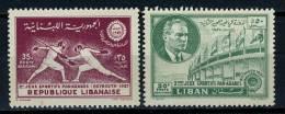 1957 - LIBANO - LEBANON - Scott Nr. C243/244 - Mi. 599A/600A - NH - (S27082012...) - Liban