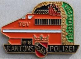 KANTONS POLIZEI BERN - BANHOF - TGV - POLICE DE LA GARE  BERNE - TRAIN -    -        (VERT) - TGV