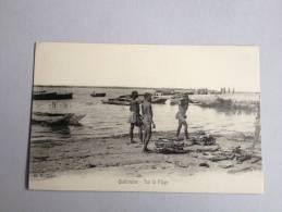 B3547) QUELIMANE ZAMBEZIE AFRIQUE SUR LA PLAGE IN THE BEACH TRIBAL MOZAMBIQUE  ZAMBEZIA AFRICA G.B. CIE CPA PC - Unclassified