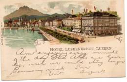 Hotel Luzernhof Luzern 1900 Postcard - LU Lucerne