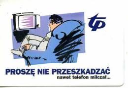 POLONIA TELEKOMUNIKACJA POLSKA TP KARTA TELEFONICZNA  PROSZE NIE PRZESZKADZAC Télécarte Phonecard Telefonkart - Grecia