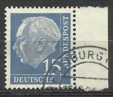 # Bund 1954, Michel # 184 Y Papier Fluoreszenz Walzendruck - Used/obliterato - [7] Repubblica Federale