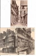 Lot 3 CPA Lisieux Place Victor Hugo  Rue De Paris Vieilles Maisons  14 Calvados - Lisieux