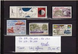 TAAF Lot De 5 Timbres PA NEUFS Sans Charnière - Airmail