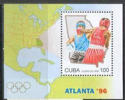M0123 Sport Boxing Olympic 1996 Cuba S/s MNH ** - Summer 1996: Atlanta