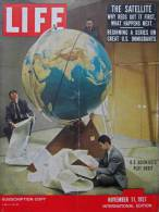 Magazine LIFE - NOVEMBER 11 , 1957 - INT ED. - Pub. RENAULT - AIR FRANCE - FORD - FIAT - Satellite Russe - BRAISIL (3057 - Nouvelles/ Affaires Courantes