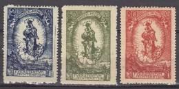 Liechtenstein 1920 Mi#40-42, Mint Hinged
