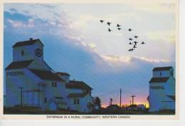 (CA51) DAYBREAK IN A RURAL COMMUNITY - Manitoba