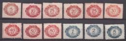 Liechtenstein 1920 Porto Mi#1-12, Mint Hinged