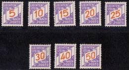 Liechtenstein 1928 Porto Mi#13-20, Mint Hinged (some Black Farb On Sixth Stamp)