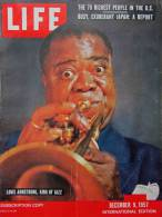 Magazine LIFE - DECEMBER 9 , 1957 - INTER. ED. -  Louis ARMSTRONG - WERNHER VON BRAUN - SABENA -  FIAT - JAPON - (3058) - Nouvelles/ Affaires Courantes