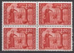 Liechtenstein 1960 Mi#395 Mint Never Hinged Block Of Four - Liechtenstein
