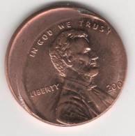 Superbe Piéce De One Cent Des états-unis... FAUTEE...... - Monnaies & Billets