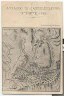 3414-BRIGATA TOSCANA-RICORDO DEL CAMPO A CASTELDELFINO IN VALLE VARAITA-1910-FP - Manovre