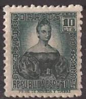 ES732-LA091TO.España.Spai N.Espagne. CIFRA Y PERSONAJES.Mariana Pineda. 1936/38 (Ed 732**) Sin Charnela,. MAGNIFICA - Otros