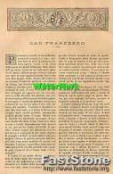 Articolo Rivista ´800 SARDEGNA, SAN FRANCESCO Di Grazia Deledda (4 Fotoincisioni) - OTTIMA - Ante 1900