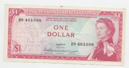 East Caribbean States 1 Dollar 1965 VF+ P 13a (sig. 2) - Ostkaribik