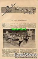Articolo Rivista '800 VENEZIA, LA VEGLIA DEL REDENTORE (3 Fotoincisioni) - OTTIMA - Ante 1900